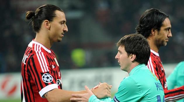 Zlatan Ibrahimovic le dice a Messi que juegue para River plate