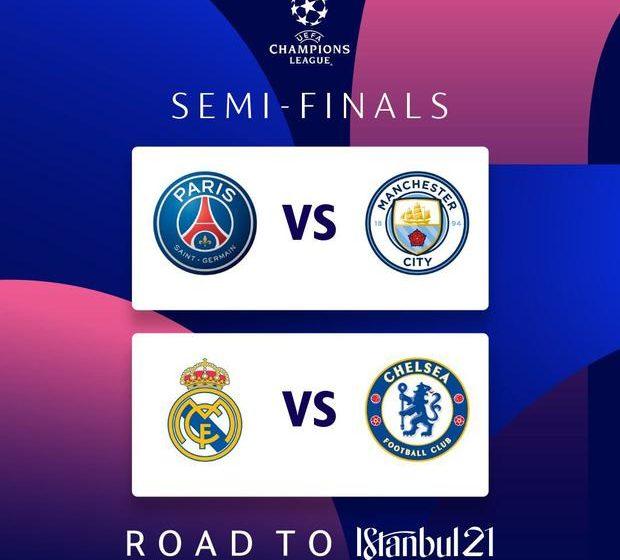 El Real Madrid, Manchester City y Chelsea posiblemente serán excluidos de las semifinales de la Liga de Campeones de esta temporada