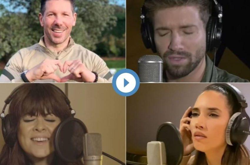 Leo Messi, Simeone y varios famosos cantan el himno a la alegría