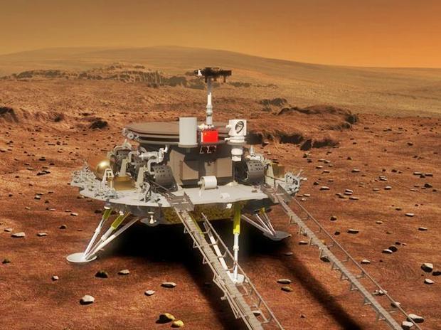 Tianwen-1 la sonda China aterriza en Marte