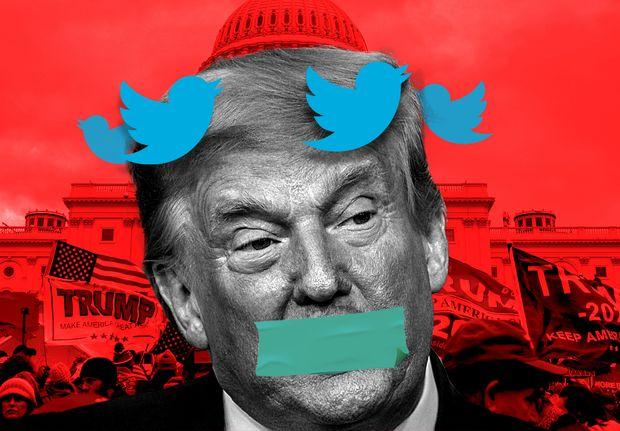 Donald Trump sigue baneado de Facebook y Twitter