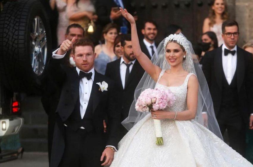 Canelo Álvarez celebra su boda con fiesta de lujo