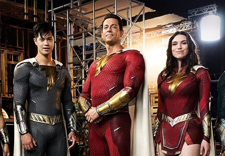 Shazam 2 Director presenta los nuevos trajes de los superhéroes