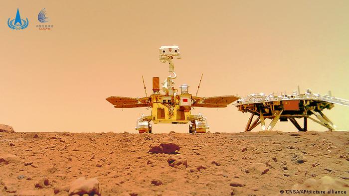 China publica una Selfie de su robot en Marte
