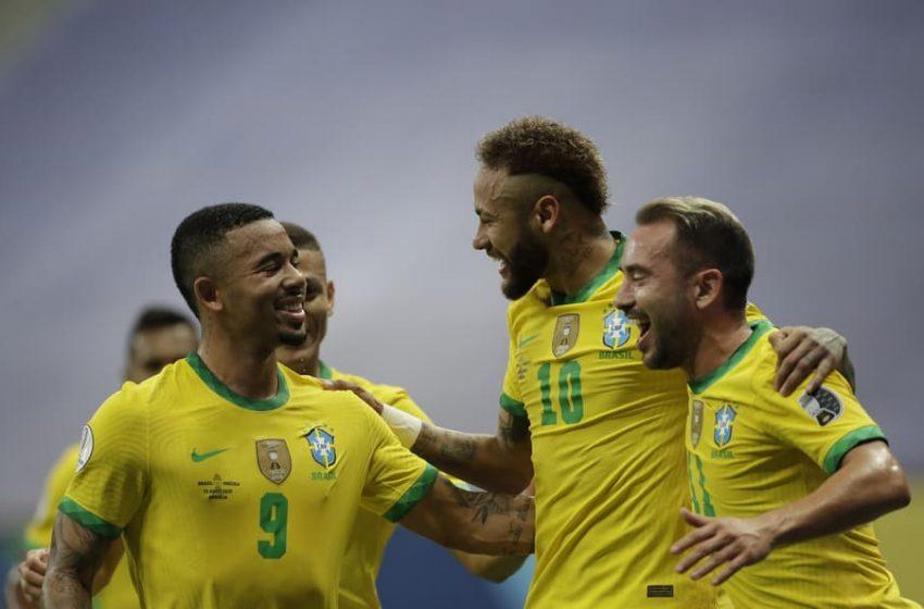 Brasil debuta goleando a Venezuela y Colombia gana con la mínima a Ecuador