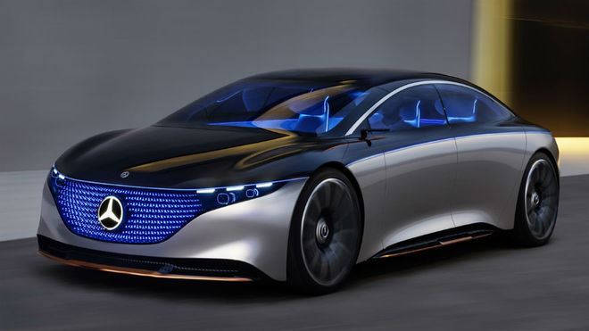 EQS de Mercedes Benz adelanta al Tesla Model S en 2 características clave
