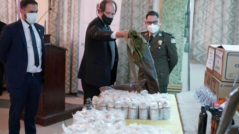 Bolivia exhibió municiones enviadas desde Argentina y denunció tráfico ilegal