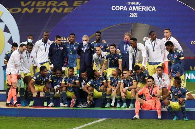 Colombia se lleva la medalla de bronce en la copa américa