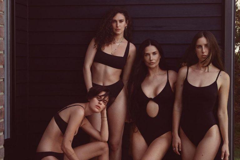 Demi Moore y sus hijas muestran la nueva colección de bañadores Andie Swim