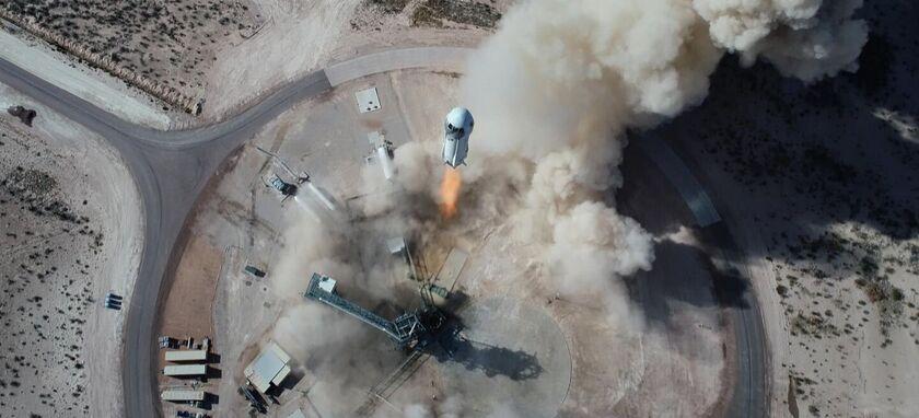 El viaje espacial de Jeff Bezos en la nave New Shepard