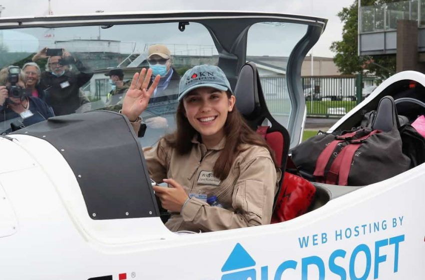 Zara Rutherford la piloto más joven en volar sola alrededor del mundo