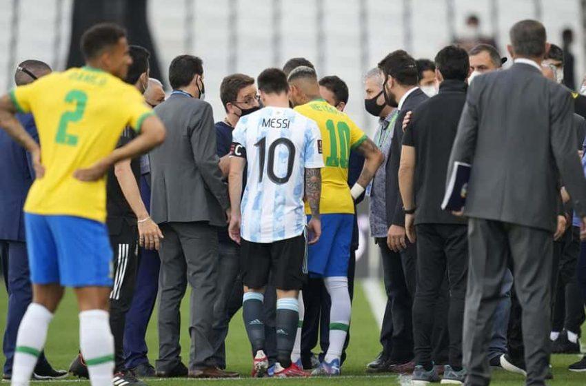 Argentina vs Brasil partido se suspende por intervención de autoridades sanitarias