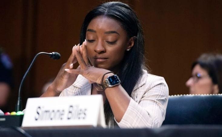 Simone Biles testifica en el Senado sobre los abusos sexuales a gimnastas