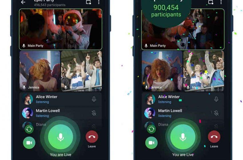 Telegram 8.0 permite espectadores ilimitados para ver transmisiones en vivo